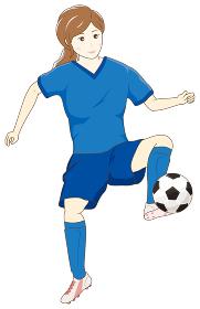 サッカーをする女性03