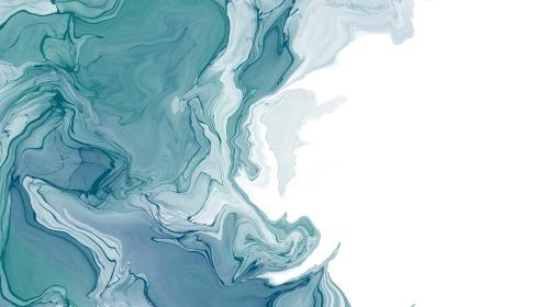 青色のアルコールインクアートの背景素材
