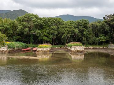 対馬 お船江跡の風景 10月
