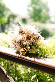 Bridal flower. Preparations for the wedding day.