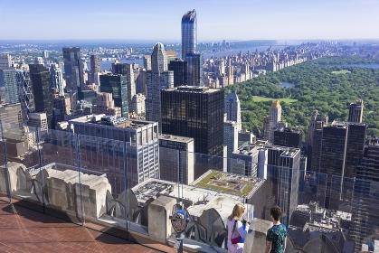 ニューヨーク トップ・オブ・ザ・ロックの展望台 マンハッタン