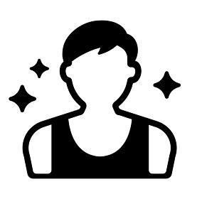 人物シルエットアイコン (若い男性) / 元気・健康・スポーツ・青春