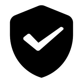 セキュリティー・シールド・盾・保護・ウイルスチェック ベクターアイコンイラスト
