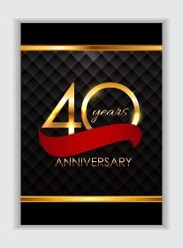 Template 40 Years Anniversary Congratulations Vector Illustration EPS10. Template 40 Years Anniversary Congratulations Vector Illustratio