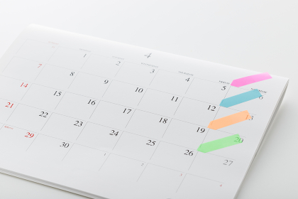 カレンダーと付箋(ポストイット)