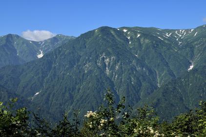 倉手山から見た飯豊連峰