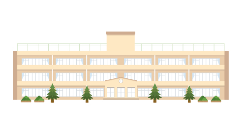 校舎 学校のイラスト