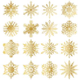 雪の結晶素材集