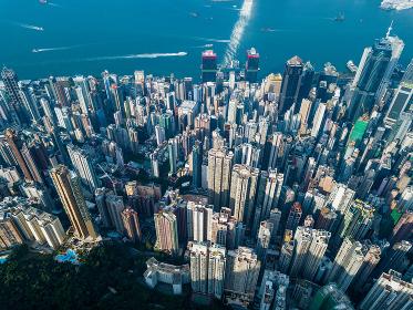 Victoria Peak, Hong Kong 3 November 2017:- Hong Kong urban downtown