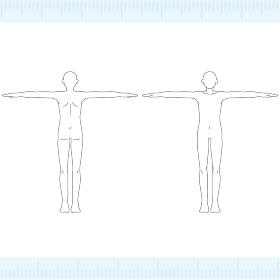 男性 メディカル 美容 裸 ヌード 全身 正面・背面