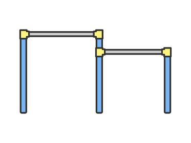 公園の鉄棒のイラスト