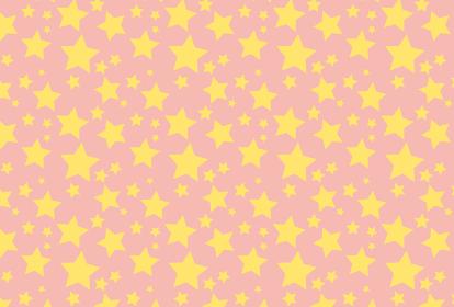 ピンク色の星のシームレスの背景イラスト