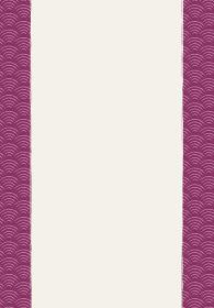 和風和柄背景フレーム|伝統模様 青海波文様(せいがいは) 背景 縦位置 左右帯有り