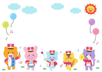 動物のマーチングバンド キャラクターフレーム
