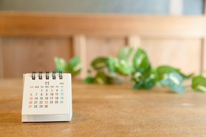 2022年11月の卓上カレンダー