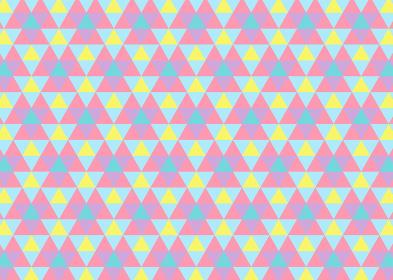 【パターン背景素材】ジオメトリックな三角形の背景 レトロA【パターンスウォッチあり】