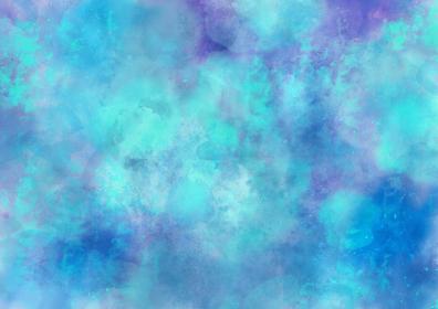 水彩調 アブストラクト背景 青