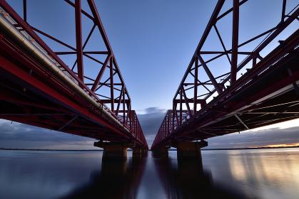 木曽川大橋からの日の出
