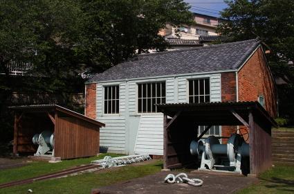 長崎の世界遺産の一つ、小菅修船場跡(巻き上げ機械小屋)