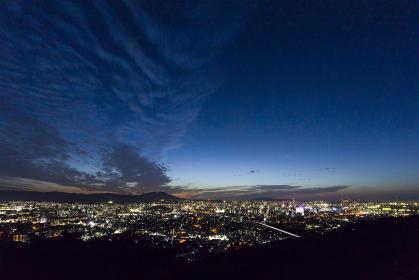 北九州市足立公園展望台からの小倉市街地夜景