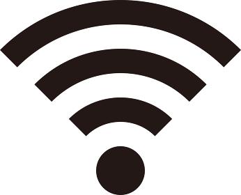 【ベクターアイコン・ピクトグラム素材】Wi-Fiマークのイラスト