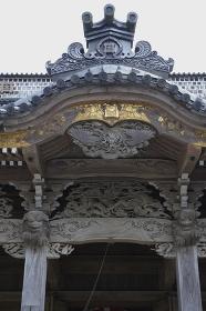日蓮像が安置されている誕生寺阻師堂正面