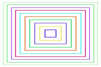 長方形パターン23