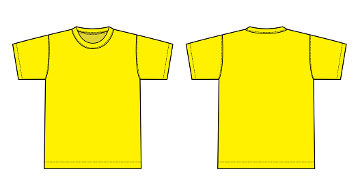 アパレルテンプレート / 半袖Tシャツ べクターイラスト