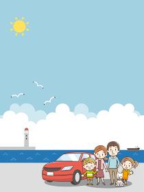 ドライブ 家族 海