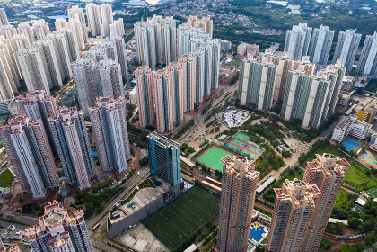 Tin Shui Wai, Hong Kong, 02 September 2018:- Hong Kong residential district