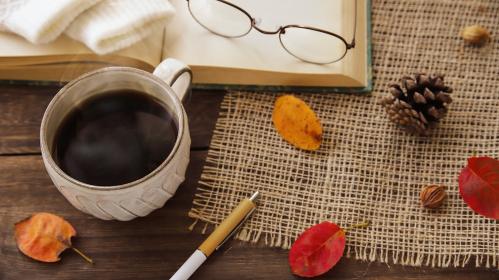 読書の秋 コーヒーを飲みながら過ごす