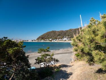 砂浜へ続く小径 葉山町 2月