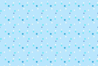 水色の水玉模様のシームレスの背景イラスト