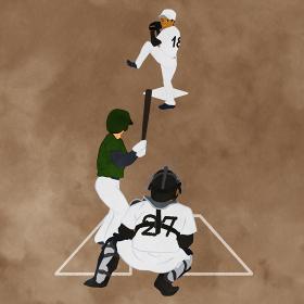 野球試合のシーンのイラスト02