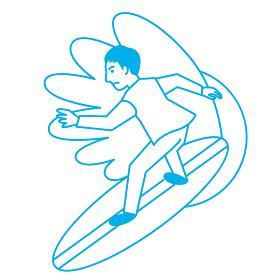 スポーツ 男性 サーフィン