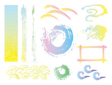筆で描いた和風背景