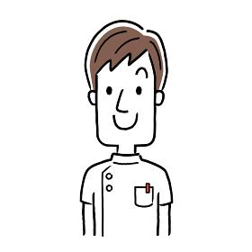 ベクターイラスト素材:笑顔の若い男性看護師