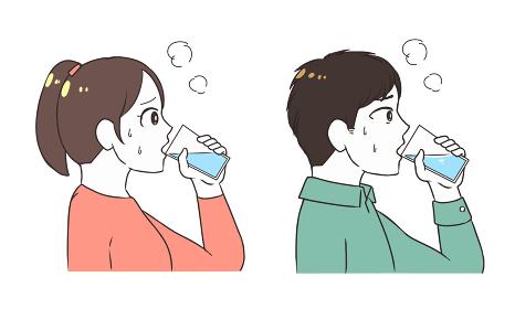 水分補給をする