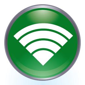 光沢感立体感のあるワイファイWi-Fiのロゴ カラフルなイラストセット アイコンラジオボタン