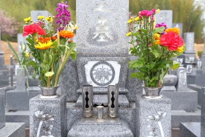 お墓の仏花