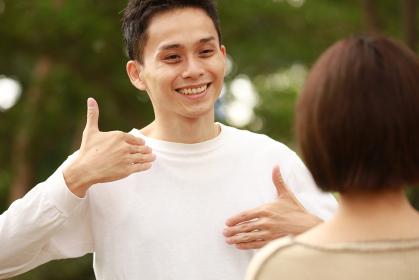手話「楽しい」「嬉しい」