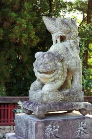 安芸の宮島の歴史ある狛犬