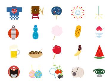 かわいい夏祭りのイラスト素材集