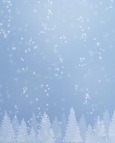 静かな雪景色、冬の背景素材