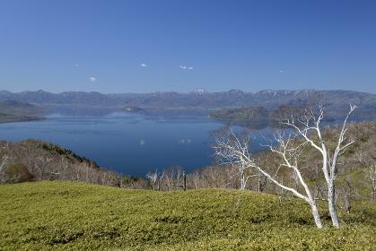 藻琴峠から見る屈斜路湖