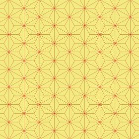 麻の葉模様 黄×赤 3