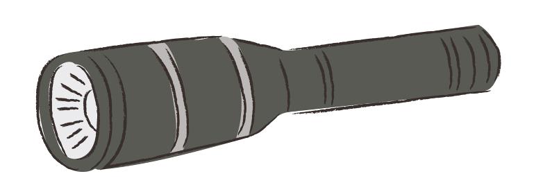 アウトドア 懐中電灯 防災 イラスト 手描き 水彩 筆