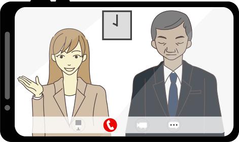 web面接 企業 イメージ
