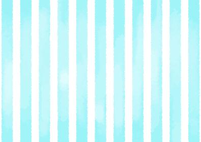 【A4 / たて縞 / 水色】水彩ストライプの背景