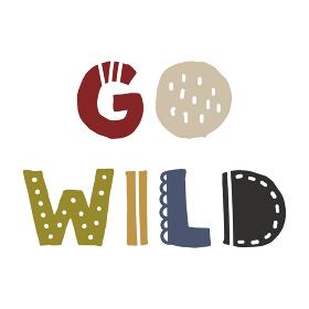 Go Wild、スカンジナビアンスタイルの手書きワード